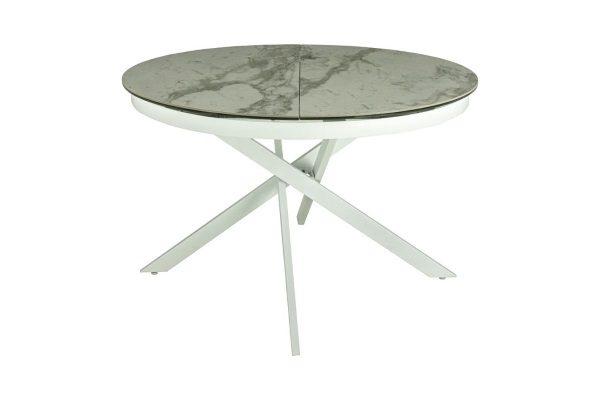 Стол MK-7510-WT Бостон обеденный керамический купить в салоне-студии мебели Барселона mnogospalen.ru много спален мебель Италии классические современные